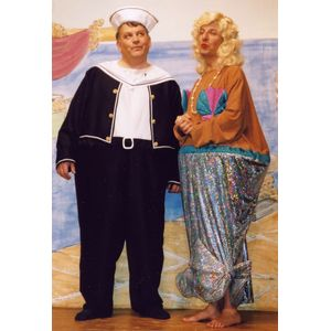 Sailor Jolly Hooped Ex Hire Sale Costume