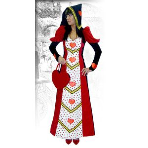 Queen of Hearts Velvet Ex Hire Sale Costume Size Large