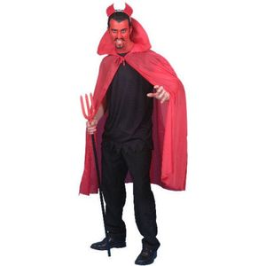 Red Long Devil Cape Ex Hire
