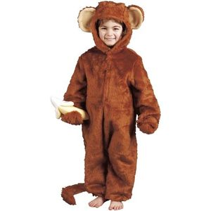 Childs Cheeky Monkey Ape Ex Hire Costume Age 9-10 Years