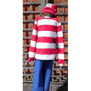 Red & White Striped Junior Ex Hire Costume Age 9-11