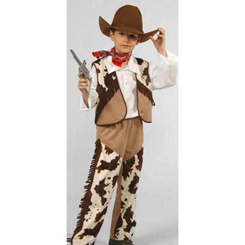Childs Cowboy Ex Hire Fancy Dress Sale Costume  Age 7-8 Years