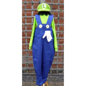 Childs Plumber Mate Luigi Costume Age 9-11 Years