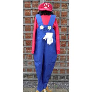 Childs Plumber Mate Mario Costume Age 9-11 Years