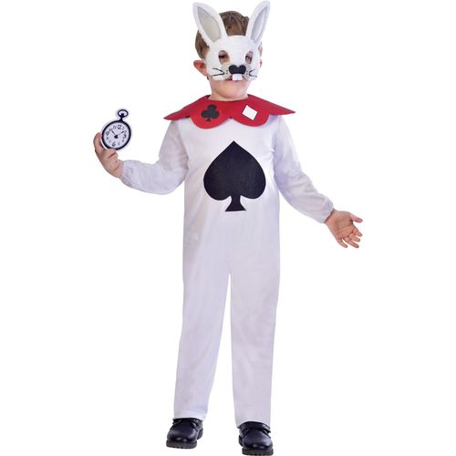 Childs White Rabbit Fancy Dress Costume Age 5-6 Years