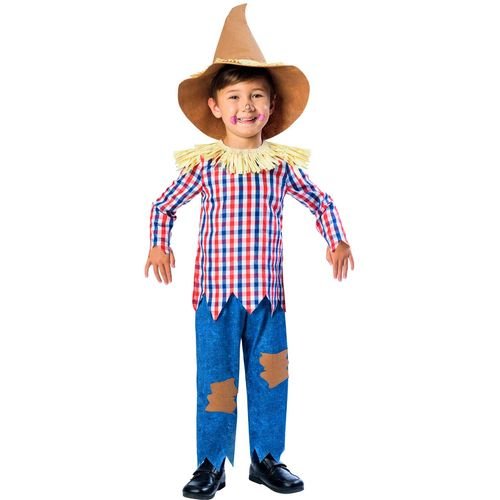 Childs Scarecrow Fancy Dress Costume Age 9-10 Years
