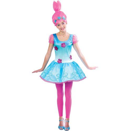 Childs Trolls Poppy Girls Fancy Dress Costume  Age 10-12 Years