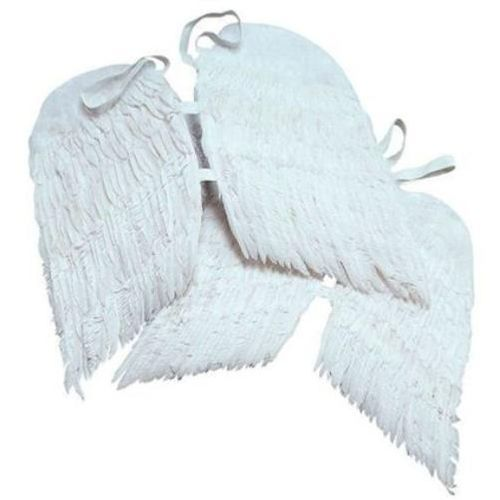 Small White Feather Angel Wings Fancy Dress Costume Accessory