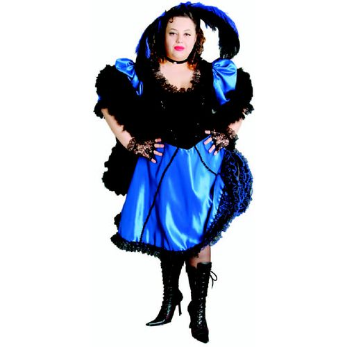 Blue Saloon Madam Ex Hire Sale Costume - XL