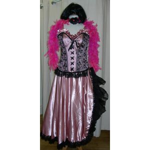 Saloon Moulin Lady Sexy Pink Ex Hire Sale Costume