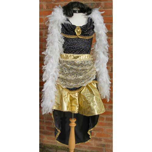 Blue & Gold Saloon Lady Ex Hire Sale Costume Size 12-14