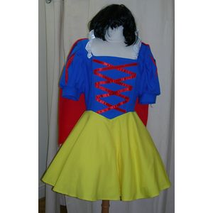 Short Snow White Ex Hire Style Costume With Cape Size M