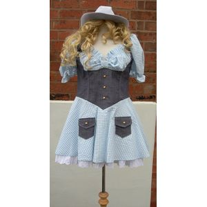 Cowgirl Dress Sexy Blue Dixie Chick Ex Hire Sale UK Size 10