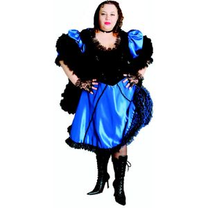 Blue Saloon Madam Ex Hire Sale Costume Size XL