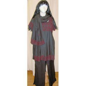 Bollywood Black & Red Lady Ex Hire Sale Costume