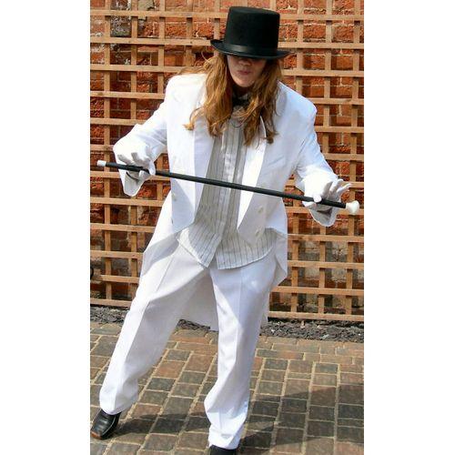 Tails Suit White Ex Hire Sale Costume