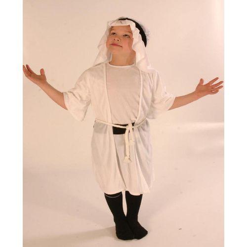 Fancy Dress Nativity White Shepherd Childrens Costume Age 5-8 Years