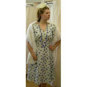 1940s Floral Tea Dress Ex Hire Sale Costume Size 8