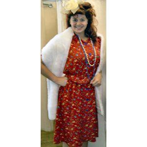 1940s Floral Tea Dress Ex Hire Sale Costume Size 16