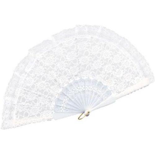 White Lace Fan Fancy Dress Costume Accessory