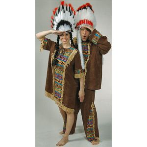 Mens Wild West Native American Indian Ex Hire Sale Costume Size XXL