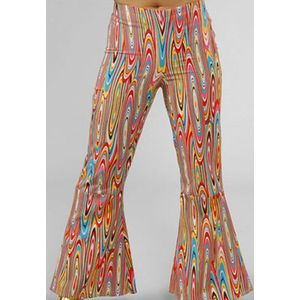 60s Psychedelic Swirl Patterend Flared Trousers Ex Hire Size 14-16