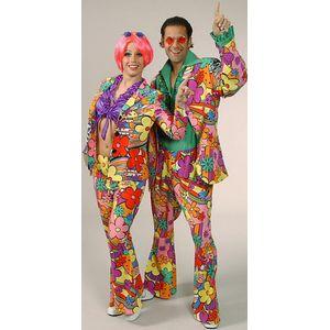 60s Flower Power Suit Unisex Ex Hire Fancy Dress Costume Size M/L