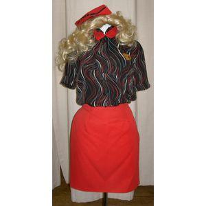 Ladies Cabin Crew Ex Hire Fancy Dress Costume Size M