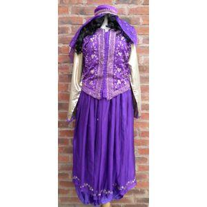 Bollywood Dancer Lady Ex Hire Fancy Dress Costume Size M Purple