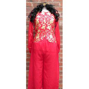 Bollywood Dancer Lady Ex Hire Fancy Dress Costume Size M-L Cerise Pink