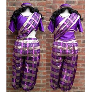 Bollywood Dancer Lady Ex Hire Fancy Dress Costume Size 10-12 Purple