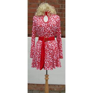 60s Hawaiian Style Dress Ex Hire Fancy Dress Costume Size S
