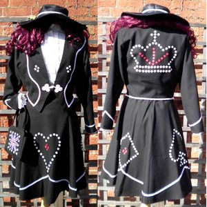 Pearly Queen Ex Hire Fancy Dress Costume Size M