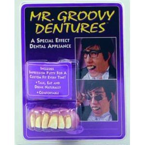 Mr. Groovy Style Teeth (Fancy Dress Accessory)