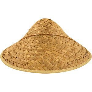 Chinese Coolie Straw Dome Hat