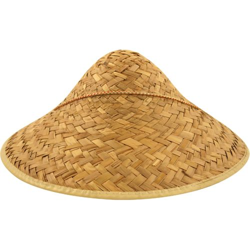 Chinese Coolie Style Straw Dome Fancy Dress Hat