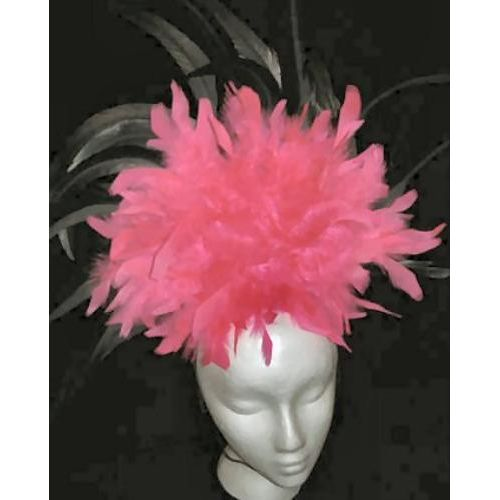 Fancy Dress Saloon Can Can Pink Headband Headdress Costume Adult