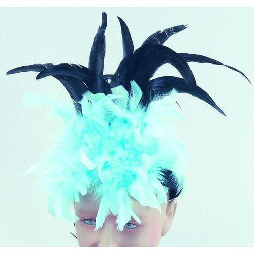 Fancy Dress Saloon Can Can Turquoise Headband Headdress
