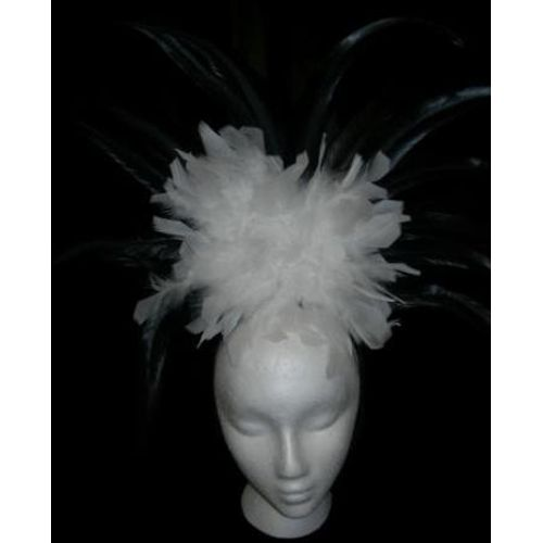 Fancy Dress Can Can White Headdress Costume Adult