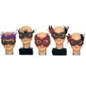 Fancy Feathered Eye Masks 15 Pack