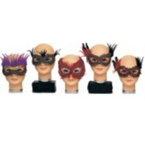 Fancy Feathered Eye Masks Pack of 15 Fancy Dress Costume Accessory