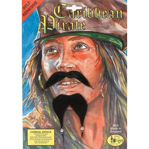 Caribbean Pirate Beard & Beaded Moustache Set