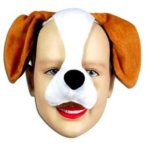 Noisy Dog Animal Mask On Headband