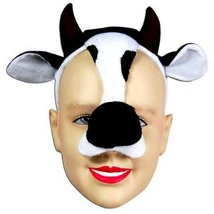 Noisy Cow Animal Mask On Headband