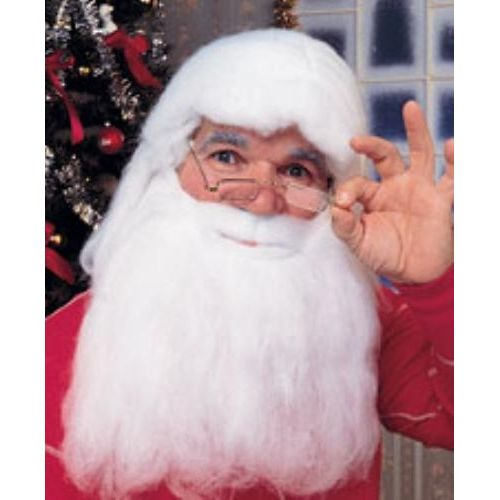 Santa Wig & Beard Set Christmas Fancy Dress Accessory