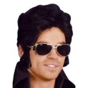 Elvis Style Rock & Roll Sun Glasses (Silver Frames)