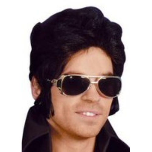 Elvis Style  Rock & Roll  Sun Glasses With Silver Frames Fancy Dress Accessory