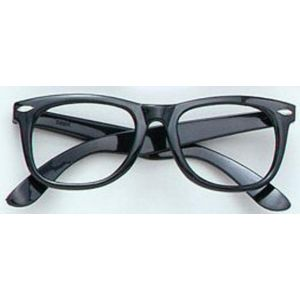 Black Frame Character Nerd Fancy Dress Glasses