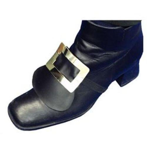 Gold Shoe Buckle Pair Fancy Dress Accessory