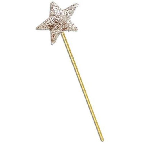 Gold Sequin Star Wand Fancy Dress Accessory